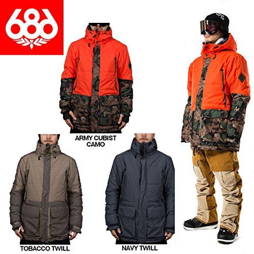 686 シックスエイトシックス2015-2016/PARKLAN Myth Insulated Jacket メンズスノージャケット スノーボード スノーウエア/3カラー/S〜XXL Army Cubist Camo M