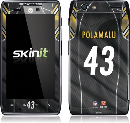 NFL - Pittsburgh Steelers - Troy Polamalu - Pittsburgh Steelers - Motorola Droid RAZR - Skinit Skin from SteelerMania