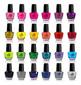 SHANY Cosmetics The Cosmopolitan Nail Polish Set (24 Colors Premium Quality and Quick Dry), 40 Fluid Ounce