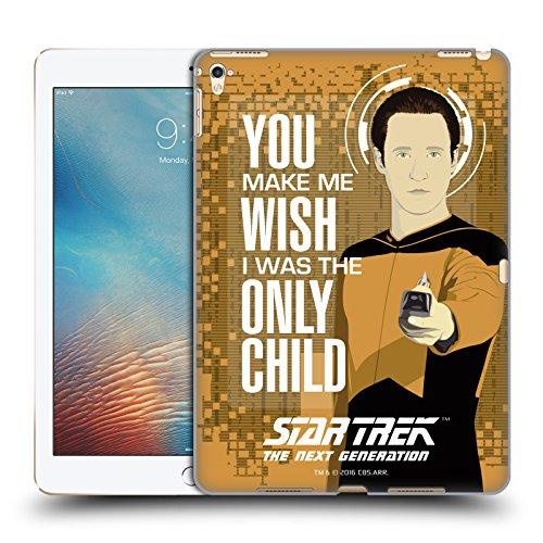 Ufficiale Star Trek Only Child Data Frasi Famose TNG Cover Retro Rigida per Apple iPad Pro 9.7