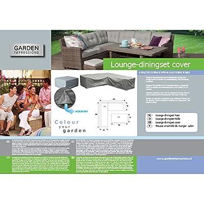 Garden Impressions Schutzhülle Lounge/Dinner Set, Grau, 293-233 x 90 x 70 cm und 162 x 92 x 63 cm von Garden Impressions - Gartenmöbel von Du und Dein Garten