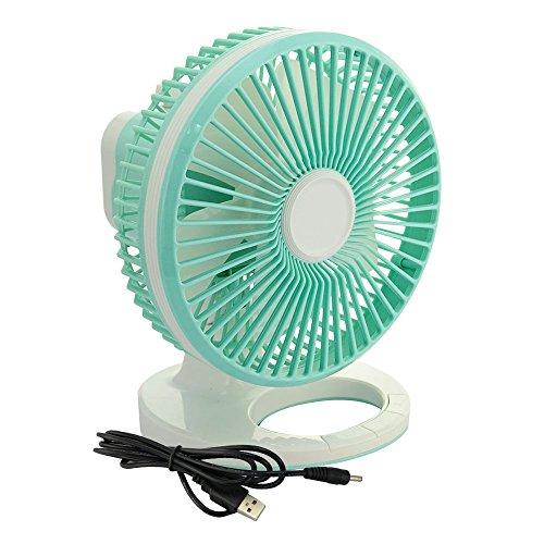 E-joy® 8-inch Oscillating Table Fan 2-Speed Desk Fan Air Circulator Fan USB Powered 8
