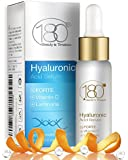 DEAL OF THE DAY - 180 Cosmetics - THE BEST Hyaluronic Acid Serum + Vitamin C - Highest Concentration of Hyaluronic Acid Skincare Line - Designed to Fill Fine Lines & Wrinkles to Plump Smooth & Hydrate For Younger Looking Skin. Anti Aging - Anti Wrinkle - Instant Lift Solution - Strengthen- Face Lift - Tone - Rejuvenate - Facelift - No Needles Needed - Facial - VALENTINE DAY GIFT