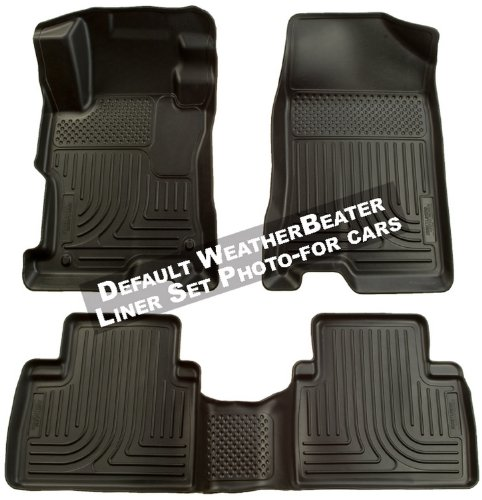 Husky Liners 98561 Black Custom Fit Front and Second Seat Floor Liner Set