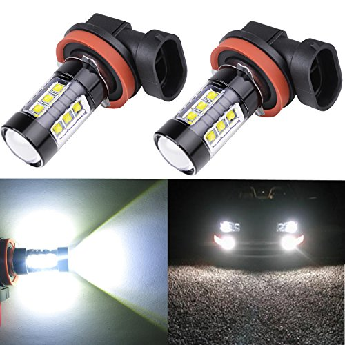 Alla Lighting® 80W High Power Osram H11 H8 Extremely Super Bright White LED Lights Bulbs for Fog Light Lamp Replacement (Fog Lights Toyota 2015 Corolla compare prices)