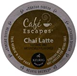 Cafe Escapes Chai Latte, K-Cup Portion Pack for Keurig Brewers, 12-Count (Pack of 3)