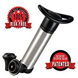 Jeeves Wine Preserver - A Great Wine Saver with a Vacuum Pump and 2 Stoppers to Seal the Wine Bottle.