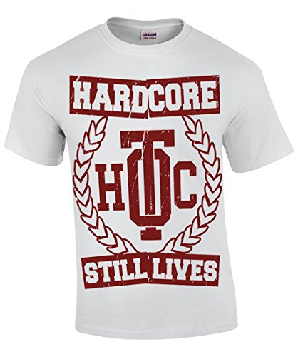 Oldtime Hardcore Clothing -  T-shirt - Basic - Collo a U - Uomo bianco Small