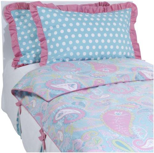 My Baby Sam Pixie Full Bedding Set - Aqua/ Pink - 1