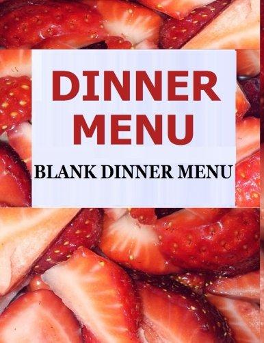 Dinner Menu: Blank Dinner Menu