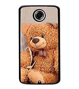 Cute Teddy 2D Hard Polycarbonate Designer Back Case Cover for Motorola Nexus 6 :: Motorola Nexus X :: Motorola Moto X Pro :: Motorola Google Nexus 6