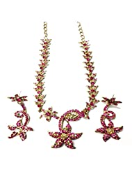 Sneh Starry Pink Necklace Set For Women