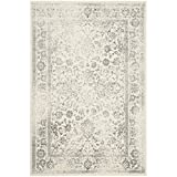 Safavieh Adirondack Collection ADR109C Ivory and Silver Area Rug, 8 feet by 10 feet (8' x 10')