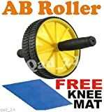Dual Abs Abdominal Roller Wheel Exerciser Workout Roller wheel body training + FREE KNEE PAD AND FREE SHIPPING
