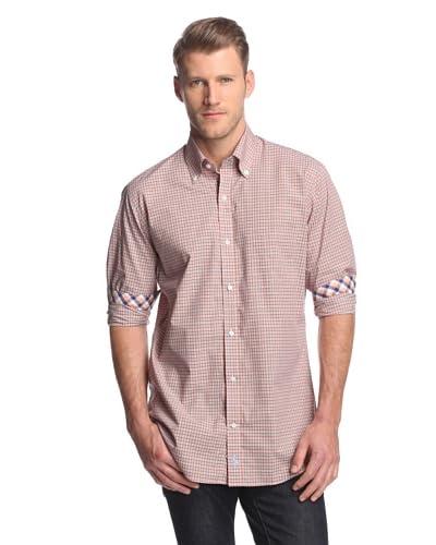 TailorByrd Men's Plaid Button Down Shirt