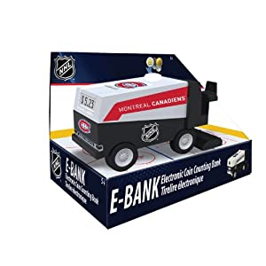 NHL Montreal Canadians Zamboni Electronic Coin Counting Bank