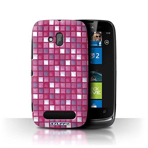 Stuff4 Hülle / Hülle für Nokia Lumia 610 / Rosa Muster / Bad Fliesen Kollektion