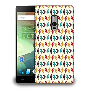 Snoogg Multicolor Stars Cream Pattern Printed Protective Phone Back Case Cover Fpr OnePlus One / 1+1