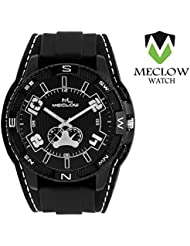 Meclow Analog Black Dial Belt Sports Watches For Men ML-GR-281-BLK-BLK