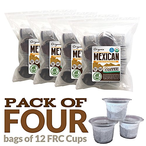 Organic Mexican Swiss Water Processed Decaf Coffee, 48 ct. SWP FRC Cups, Fresh Roasted Coffee LLC. (48 ct.) (Mexican Decaf Coffee K Cup compare prices)