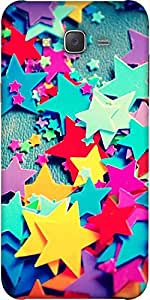 Snoogg Stars Colourful Pattern Designer Protective Back Case Cover For Samsun...