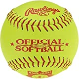 Rawlings BRO12Y47L 12 Inch 47/375 Babe Ruth Stamped Leather Fastpitch Softball (Sold in Dozens)