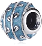 Pandora Damen-Bead, Sterling Silber 925 , Emaille hellblau , 790525E18
