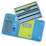 Content&Calm Traveller Journal for Kids (Blue Stripe)