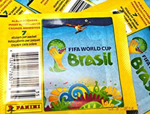 20 PACKS: 2014 Panini FIFA World Cup Soccer stickers (7 stickers per pack)