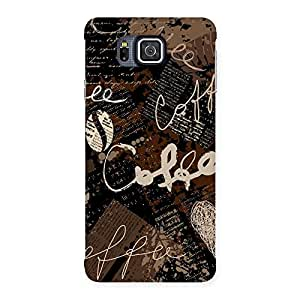 Delighted Coffee Coffee Multicolor Back Case Cover for Galaxy Alpha