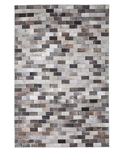 Darya Rugs Cowhide Oriental Rug, Multi, 6' 1 x 4' 1