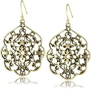 Amazon.com: Lucky Brand Gold-Tone Thai Butterfly Earrings: Drop