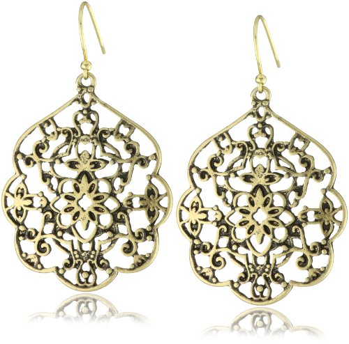 Lucky Brand Gold-Tone Thai Butterfly Earrings