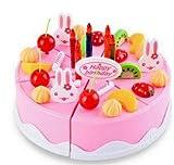 ZEARO 54 pcs Moda Niños Juguete de Plástico DIY Torta de la Fruta y Conjunto de Té