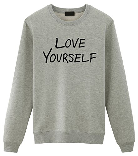 Fellow Friends - Justin Bieber Love Yourself Unisex Sweater Medium Grey