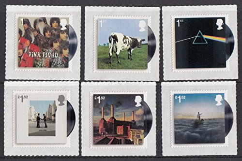 Pink-Floyd-Six-Album-Covers-Stamp-Set-Collectible-Postage-Stamps-Royal-Mail