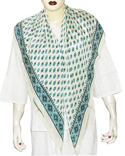 Fashion In Summer Accessory Scarfs for Ladies Square Handpainted 44 x 44 inches