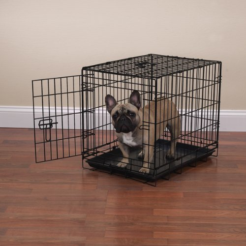 Petedge Epoxy-Coated Steel Crate Appeal Dog Crate, Small, Black front-1021408
