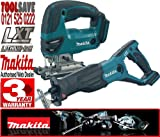 Makita BJV180Z 18V Li-Ion Jigsaw Plus BJR181Z 18V LXT Li-Ion Reciprocating Saw (Bare Unit)