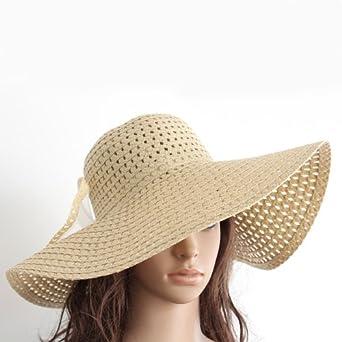 new womens wide large brim summer sun hat