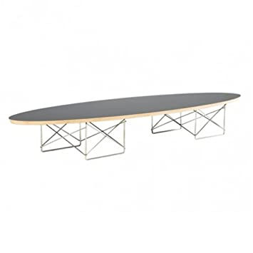 Fine Mod Imports Wire Wood Coffee Table, Black