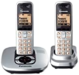 Panasonic KX-TG6422ES DECT Twin Digital Cordless Phone Set with Answer Machine in Silver