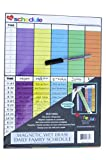"Daily Family Schedule, Magnetic Wet Erase - Homeschool (Flexible Magnet) (Large 11"" x 15"")"