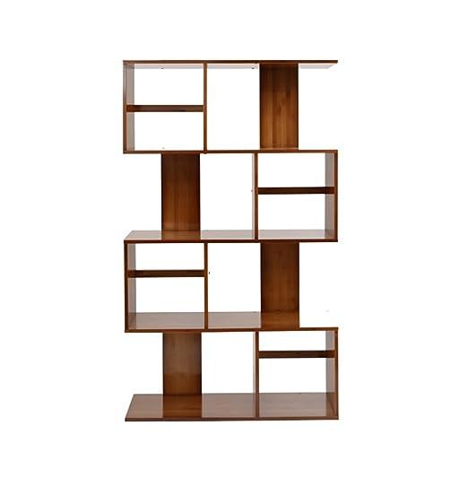 Haushaltsgegenstände S-Typ Regale Modernes einfaches Bucherregal Wohnzimmer Bambusboden Bucherregal Trennwand Kombination und kreativ -CRS-ZBBZ ( Farbe : 80cm , größe : 4tiers )