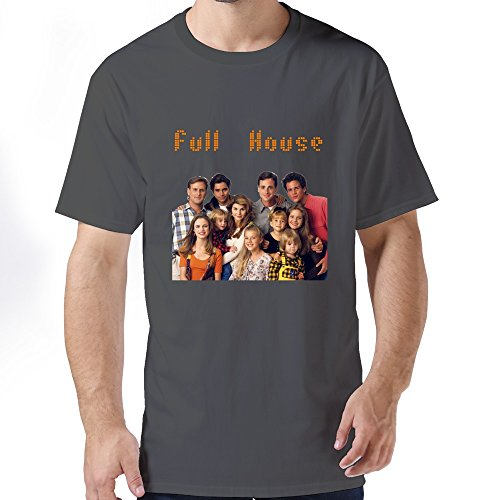 Mens Cute 100% Cotton Full House Tshirts Size S Color DeepHeather (Full House Tee Shirt compare prices)