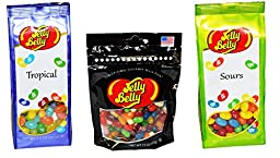 Jelly Belly Jelly Beans Variety Pack of 3 Tropical Assorted Sours Jellybeans