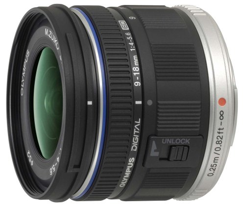 Olympus M.ZUIKO Digital ED 9-18mm 1:4.0-5.6 Lens - Black