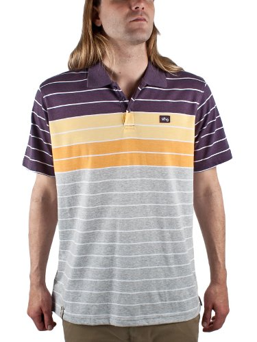 LRG Children Of Vision Mens Polo Shirt Jersey in Ash Heather, Size Large