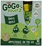 51XgEWRPZVL. SL160  GoGo Squeez appleapple, Applesauce on the Go, 3.2 Ounce Pouches (Pack of 48)