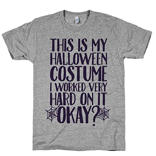HUMAN This is My Halloween Costume I Athletic Grey T-Shirt